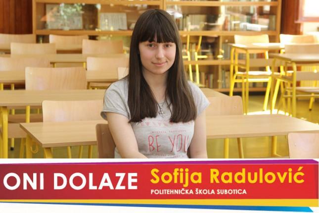 Oni dolaze: Sofija Radulović, učenica Politehničke škole