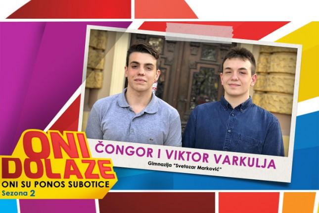"""Oni dolaze: Čongor i Viktor Varkulja, učenici Gimnazije """"Svetozar Marković"""" i vaterpolisti Spartak Prozivke"""