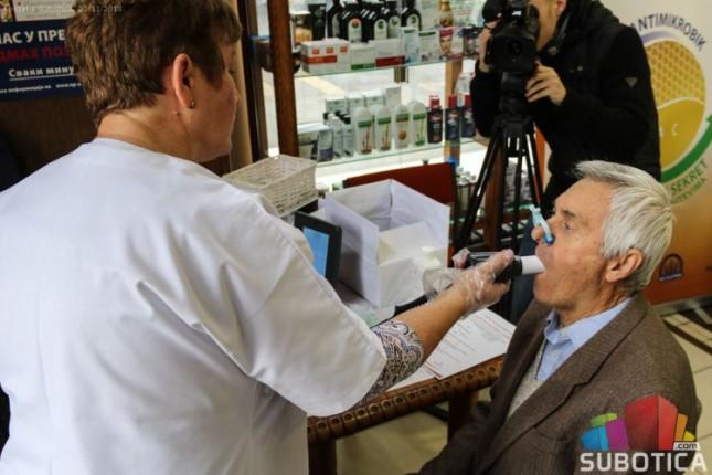 Besplatni spirometrijski pregledi sutra