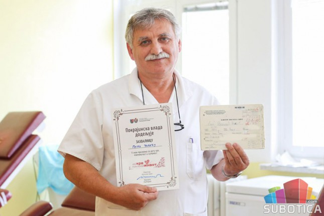 Peter Čolić više od četiri decenije dobrovoljno daje krv