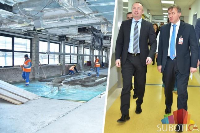Pajtić obišao radove na rekonstrukciji operacionog bloka Opšte bolnice