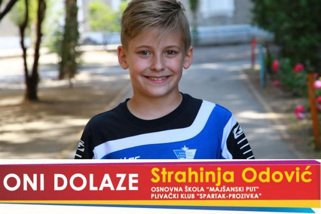 """Oni dolaze: Strahinja Odović, učenik OŠ """"Majšanski put"""" i član Plivačkog kluba """"Spartak Prozivka"""""""