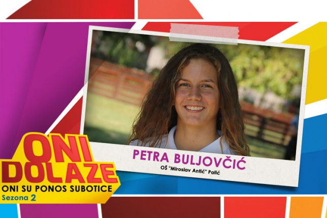 """Oni dolaze: Petra Buljovčić, učenica OŠ """"Miroslav Antić"""" i članica Jedriličarskog kluba """"Reful"""""""