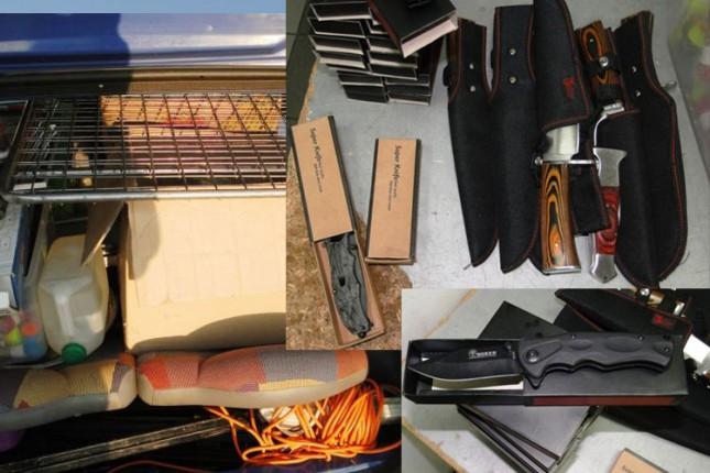 Sprečeno krijumčarenje stotinjak noževa