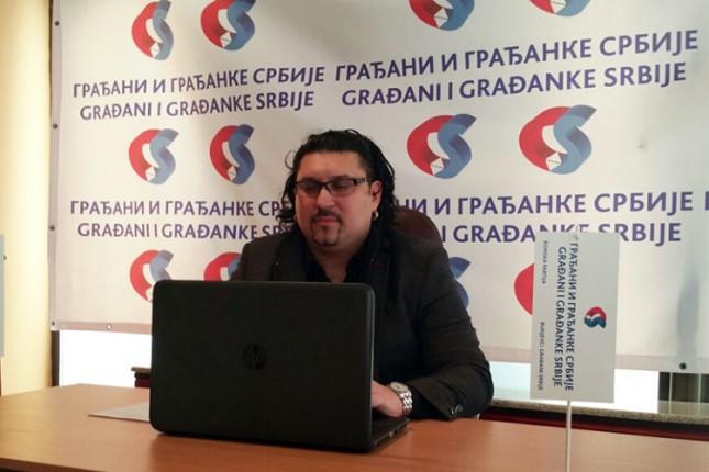 Miloš Nikolić nosilac pokrajinske liste ispred koalicije Građani i građanke Srbije