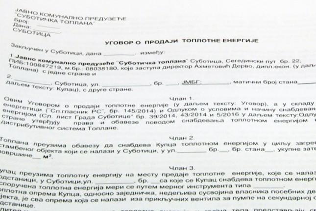 Šta znače ugovori koje šalje Toplana?