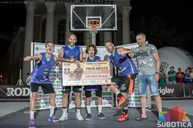"""Komanda"" pobednik basket 3x3 turnira u Subotici"