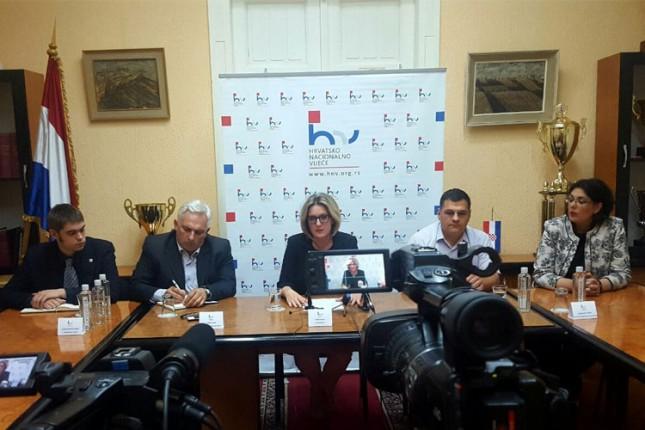 Hrvatsko nacionalno veće zadovoljno postignutim u prvih šest meseci