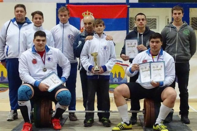 Dizači tegova Spartaka šampioni Srbije u kategoriji do 23 godine