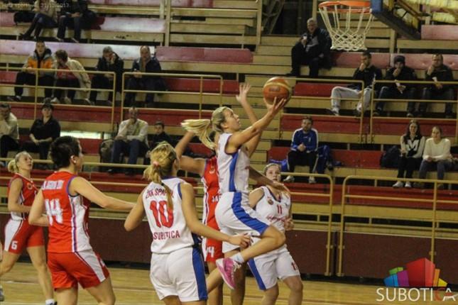 Košarkašice Spartaka poražene u Vrbasu (74:60)