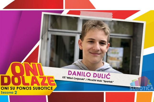"""Oni dolaze: Danilo Dulić, učenik OŠ """"Miloš Crnjanski"""" i član PK """"Spartak"""""""