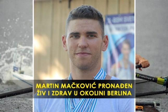 Pronađen Martin Mačković - živ i zdrav!