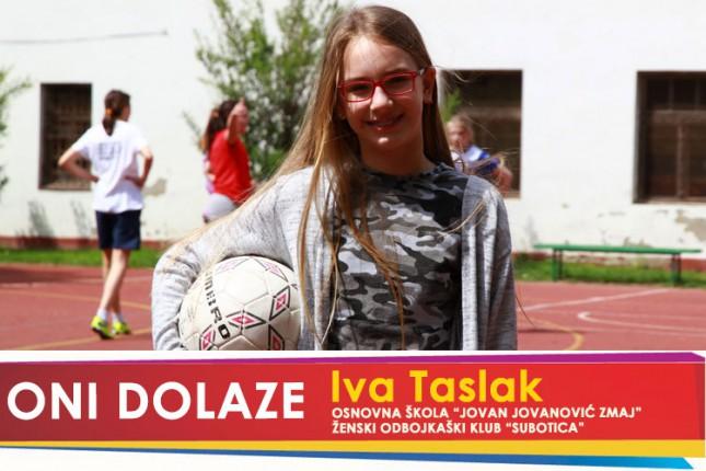 """Oni dolaze: Iva Taslak, učenica OŠ """"Jovan Jovanović Zmaj"""" i članica ŽOK """"Subotica"""""""