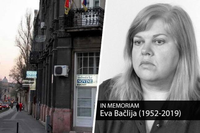 Preminula Eva Bačlija, dugogodišnja novinarka Subotičkih novina