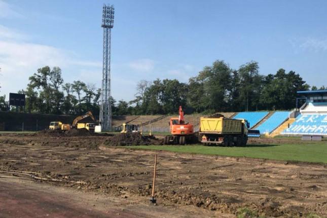 Započeli obimni radovi na Gradskom stadionu