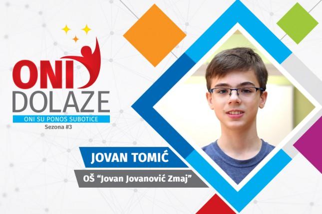 "Oni dolaze: Jovan Tomić, učenik OŠ ""Jovan Jovanović Zmaj"" i Muzičke škole"