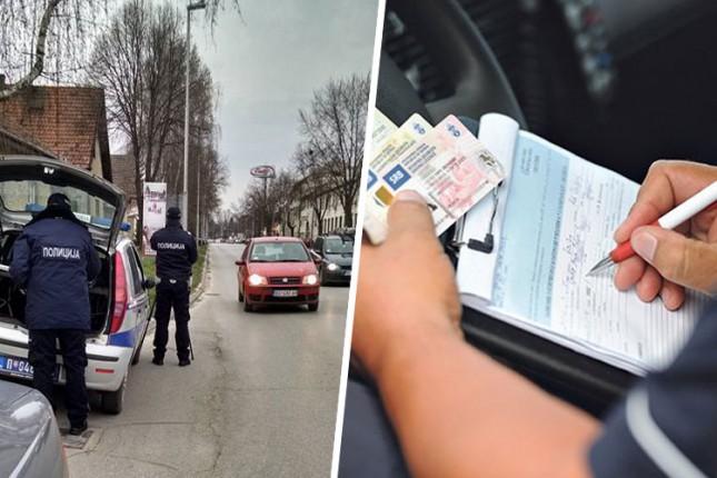 Sankcionisano blizu 500 vozača tokom protekle sedmice