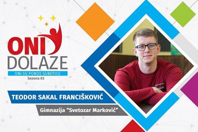 """Oni dolaze: Teodor Sakal Francišković, maturant Gimnazije """"Svetozar Marković"""""""