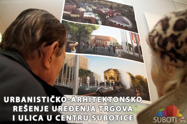Uređenja trgova i ulica u centru Subotice - Najbolji radovi na Konkursu za urbanističko-arhitektonsko rešenje