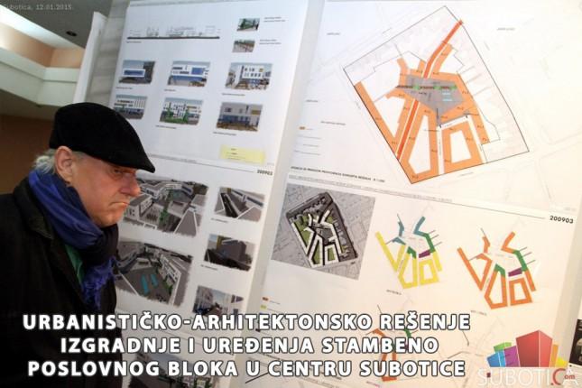 Izgradnja i uređenje stambeno-poslovnog bloka u centru Subotice - Najbolji radovi na Konkursu za idejno urbanističko-arhitektonsko rešenje