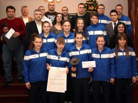 """ŽFK """"Spartak"""" najbolja ekipa Vojvodine u 2012. godini"""