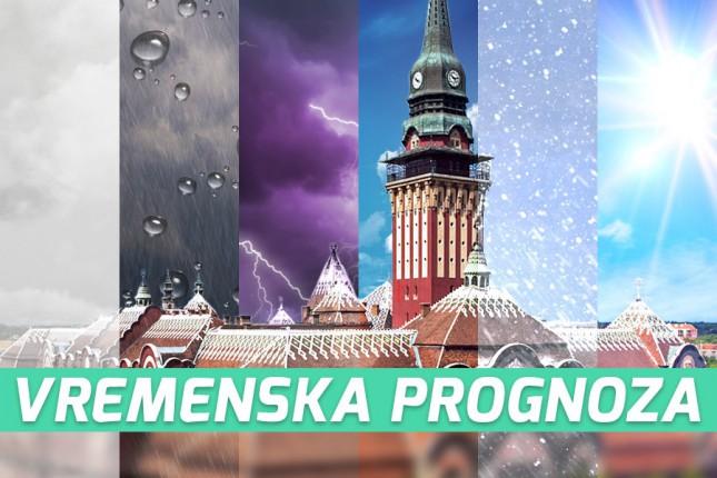Vremenska prognoza za 14. avgust (utorak)