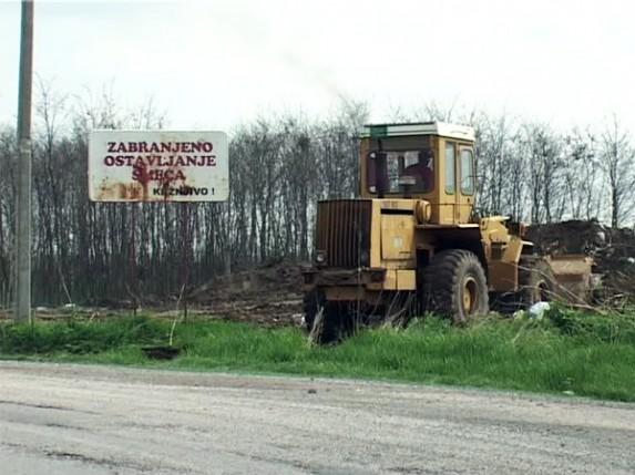 Počelo čišćenje divlje deponije u Novom Žedniku