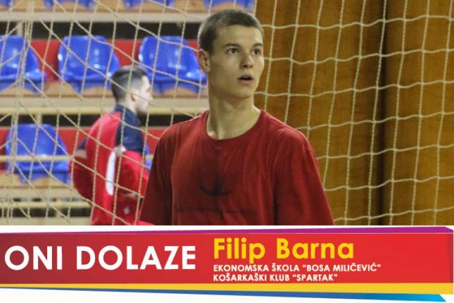 "Oni dolaze: Filip Barna, maturant Ekonomske škole ""Bosa Milićević"" i prvotimac KK ""Spartak"""