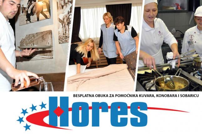 Besplatna obuka za poslove pomoćnika kuvara, konobara i sobarice