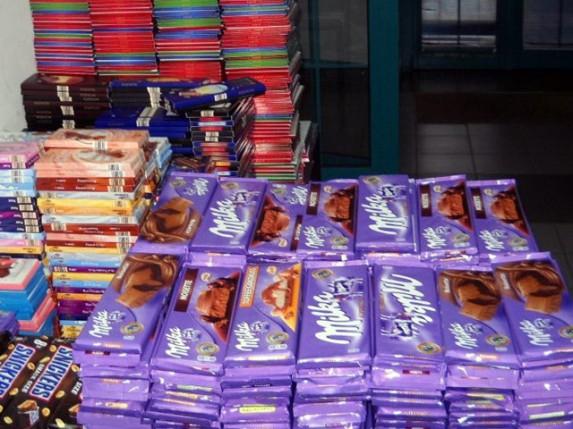 Sprečeno krijumčarenje 400 kg čokolade na Horgošu