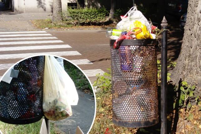 Kante za sitan otpad nisu mesto za odlaganje kućnog smeća
