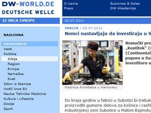 Deutsche Welle: Nemačke investicije u Suboticu