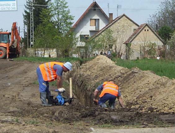 Radovi na vodosnabdevanju na Kelebiji (23.07.)