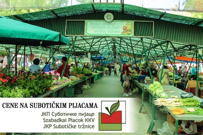 Cene na subotičkim pijacama (21.3.)