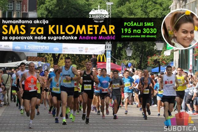 """Maratonci trče za Andreu Mudrić u akciji """"SMS za kilometar"""""""