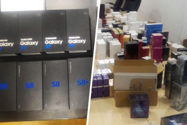 Zaplenjeni mobilni telefoni, originalni parfemi i više od 40 kg suplemenata