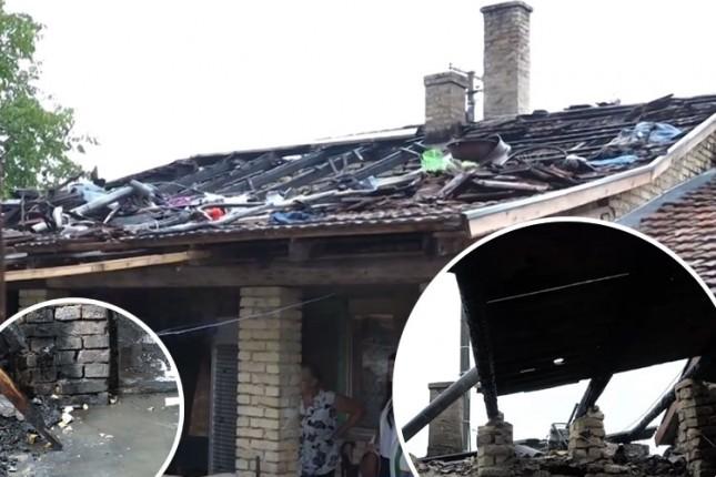 Porodici Kovač plamen progutao deo krova