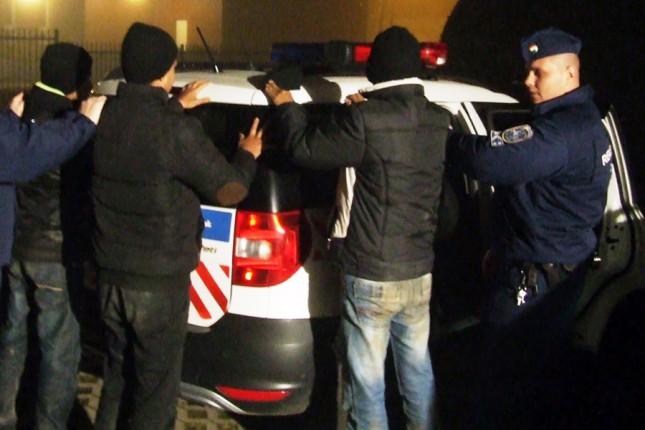 Hapšenja migranata na mađarsko-srpskoj granici