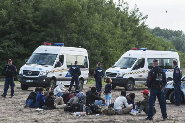 Izbeglice presekle ogradu na granici, šesnaestoro privedeno