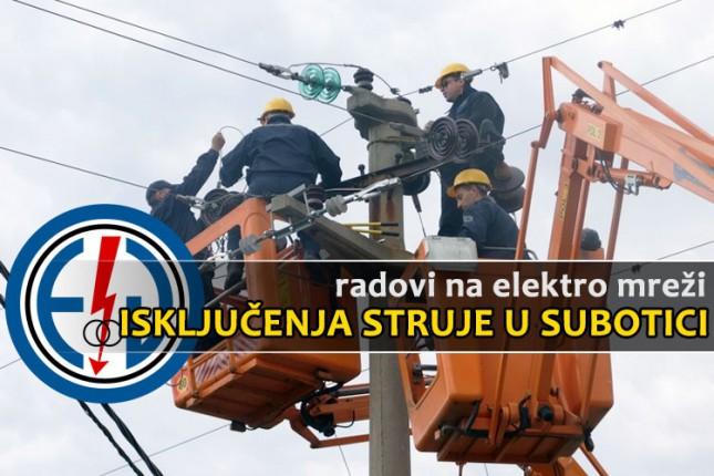 Isključenja struje za 10. januar (utorak)