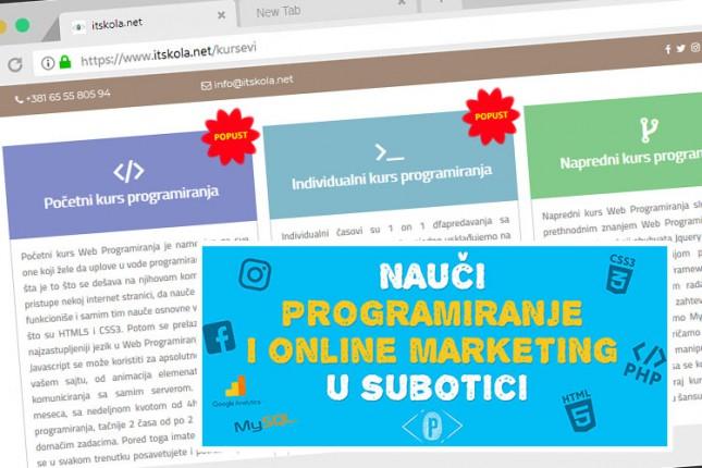 "Kursevi programiranja i onlajn marketinga u ""IT školi"""