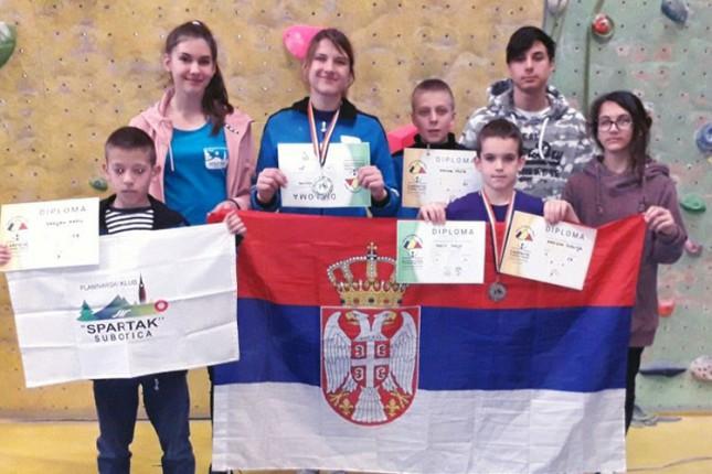 Sportsko penjanje: Dve medalje za takmičare Spartaka u Bukureštu