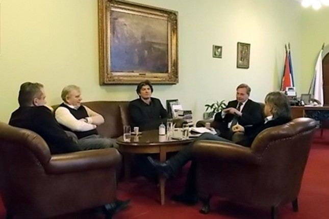 Karadžić i Simović sa Maglaijem o fudbalskim temama