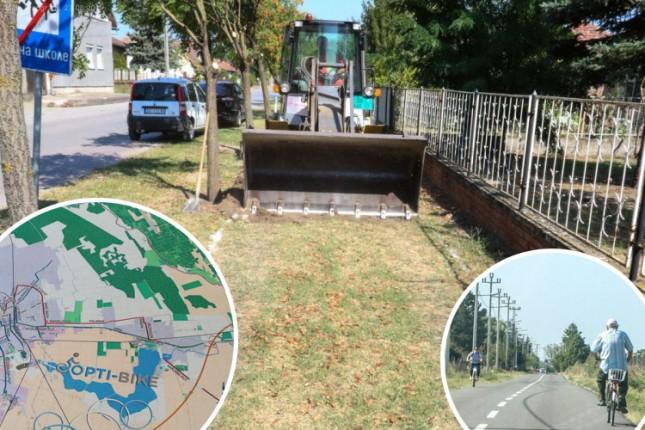 Počeli radovi na izgradnji biciklističke staze u Bačkim Vinogradima