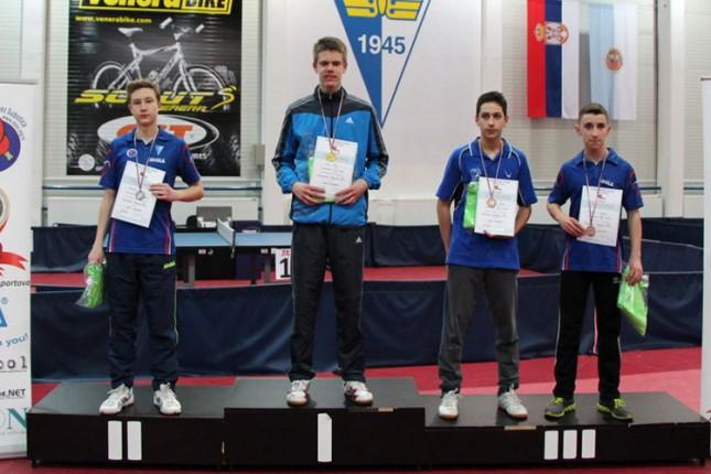 Održano Pojedinačno stonotenisko prvenstvo Vojvodine za kadete