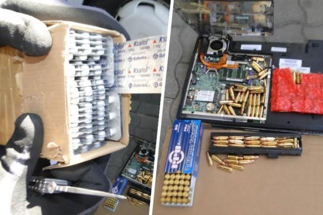 Na Horgošu otkriveni lekovi i municija
