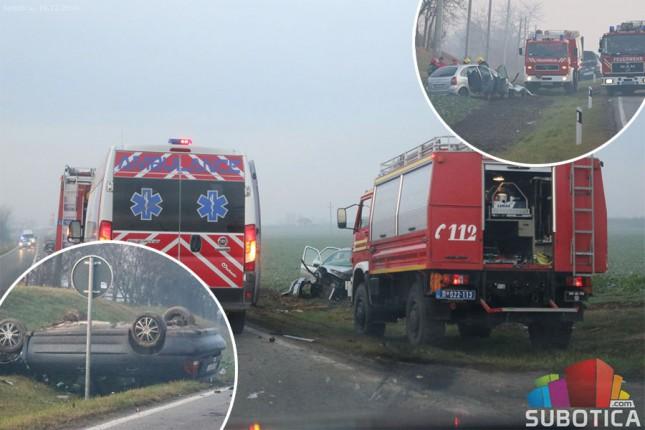 Teška saobraćajna nezgoda na putu Subotica-Bajmok, dvoje poginulih