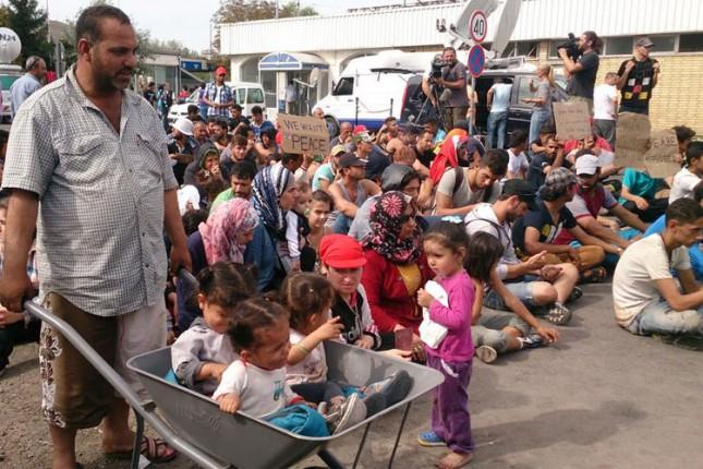 Miran protest izbeglica na Horgošu 2, zatvoreni Horgoš 1 i Bački Vinogradi