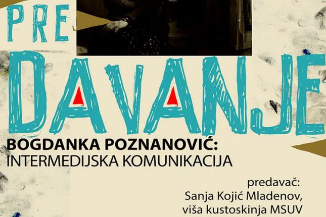 Predavanje o Bogdanki Poznanović večeras u SGSU