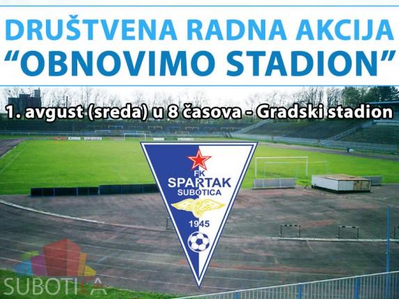 """Akcija """"Obnovimo Gradski stadion"""" - pozivamo na solidarnost sugrađana"""